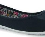 Miss Fiori Canvas Ladies Ballet Pumps