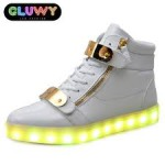 LED Sneakers – white,weiß,girl
